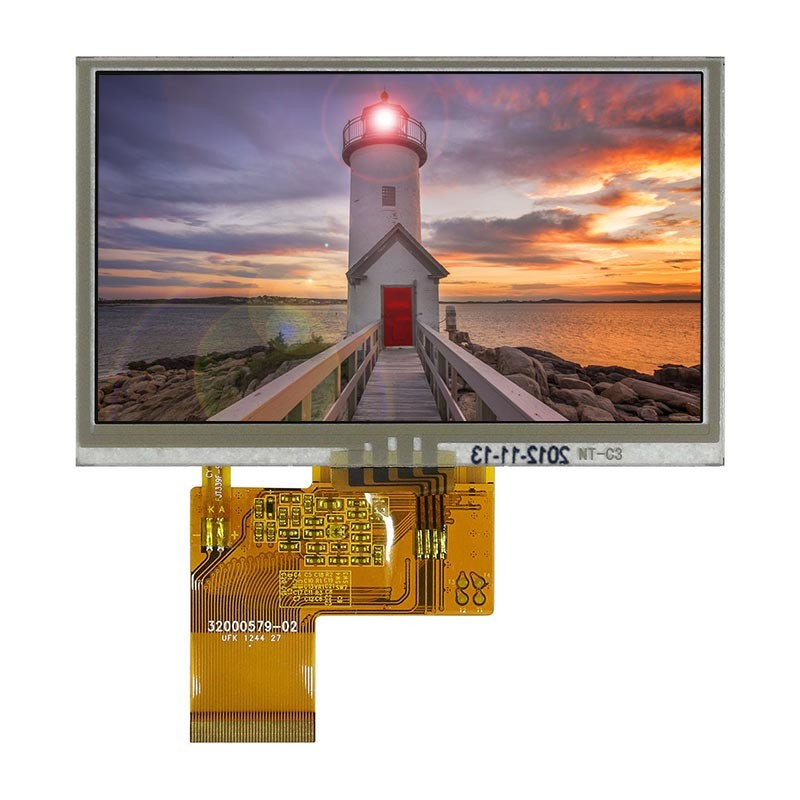 TFT 4.3 inch LCD Module, TouchScreen Display for MP4 , GPS, 480x272