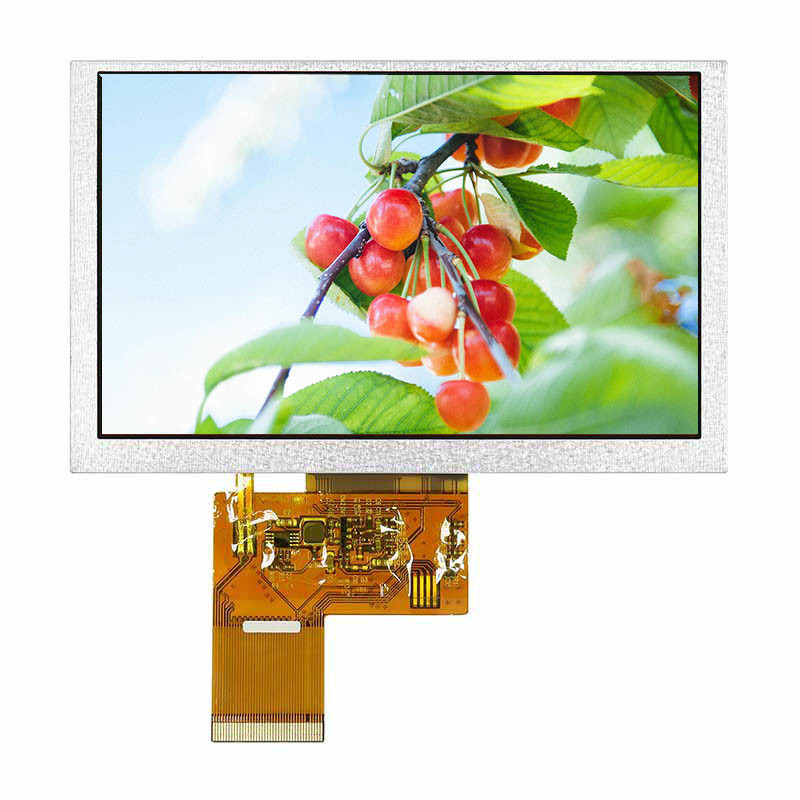 "High Brightness 1000nits ,24 bit RGB interface 5.0"" IPS TFT LCD Module with WVGA resolution 800*480 ,Capacitive touch panel"