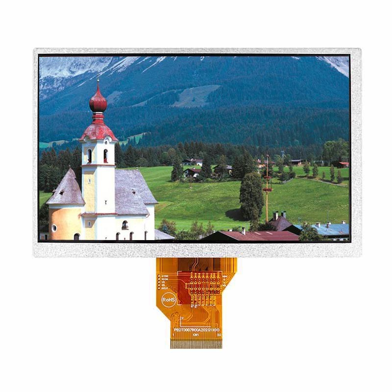 7.0 tft 50 pin High Definition TFT LCD 7 Inch TFT LCD Display Panel with 800*480