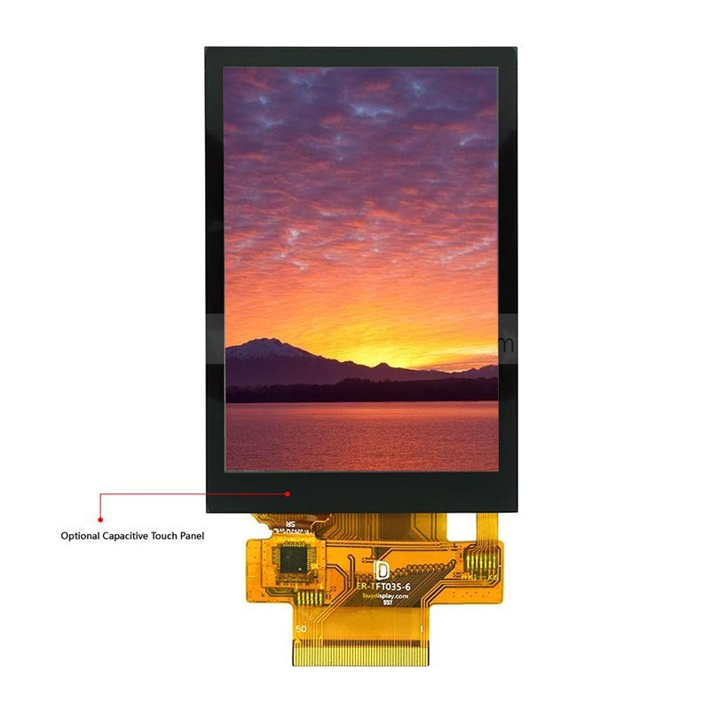 3.2 inch tft lcd module 240*320 resolution 12 o' clock viewing with touch screen