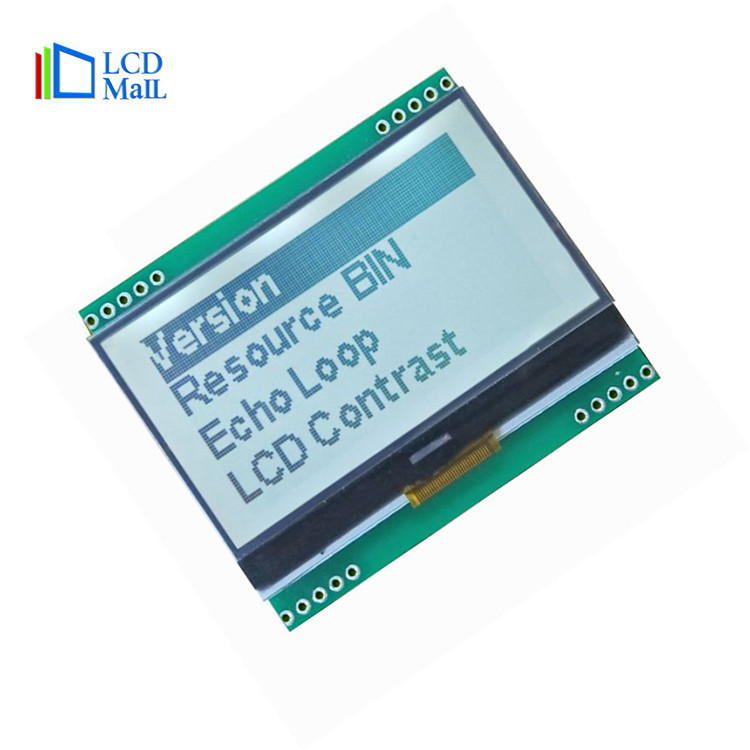 Monochrome LCM Display Module with Backlight, Graphic LCD 128x64